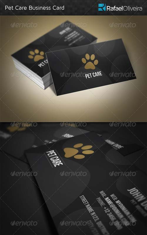 GraphicRiver Pet Care Business Card
