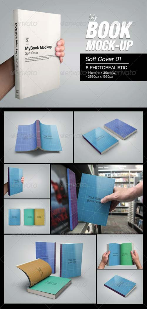 GraphicRiver MyBook Mock-up - Soft Cover 01