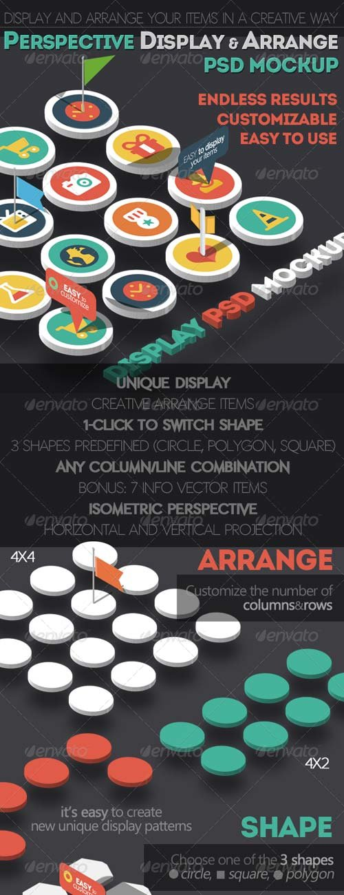 GraphicRiver Perspective Display and Arrange PSD Mockup