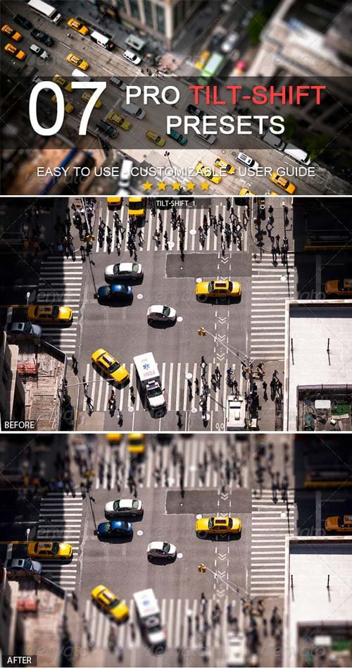 GraphicRiver 7 Pro Tilt-Shift Presets