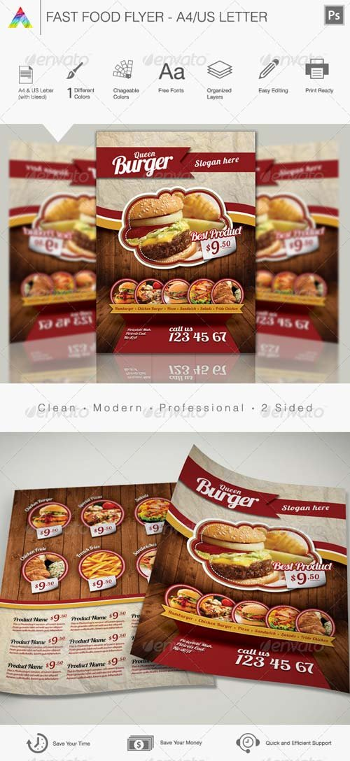 GraphicRiver Fast Food Flyer 4407978