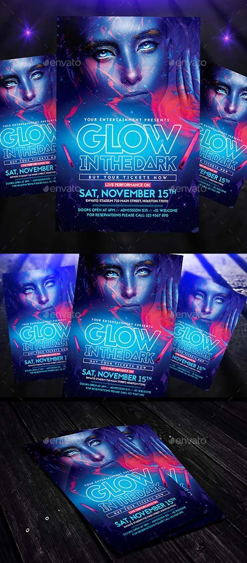 GraphicRiver Glow in the Dark | Flyer + Instagram Promo