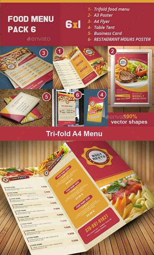 GraphicRiver Food Menu Pack 6