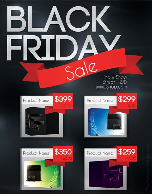 CreativeMarket Black Friday Sale Flyer