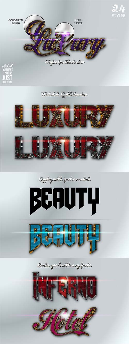 CreativeMarket Luxury Styles for Illustrator