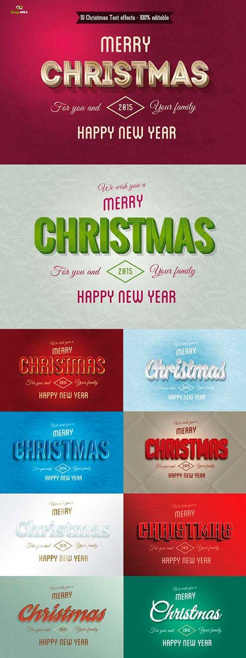 CreativeMarket Christmas Text Effects