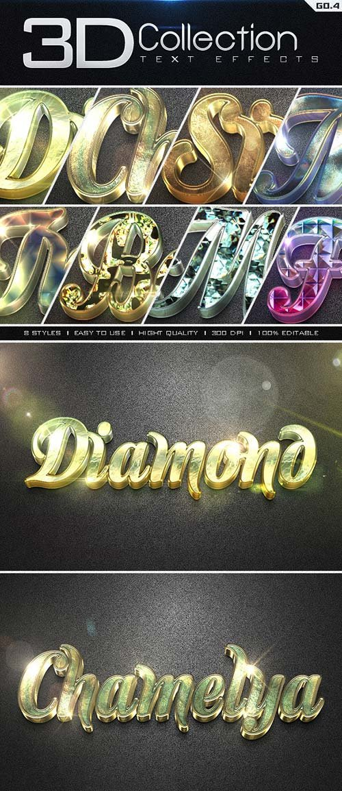 GraphicRiver 3D Collection Text Effects GO.4