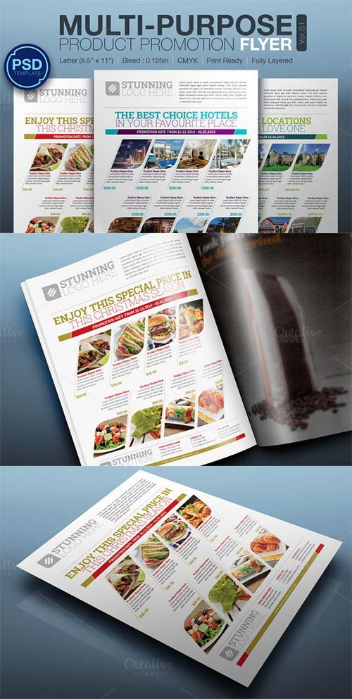 CreativeMarket Multipurpose Product Promotion Flyer