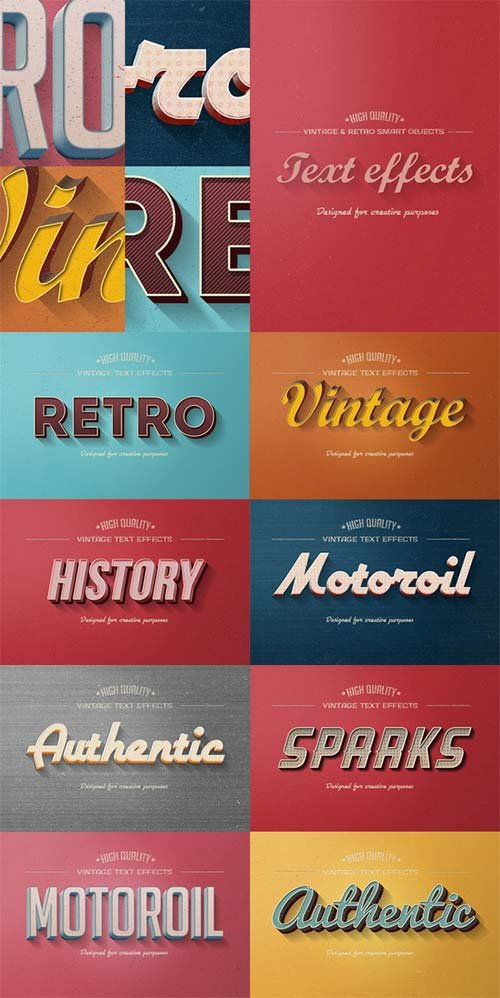 CreativeMarket Retro Vintage Text Effects