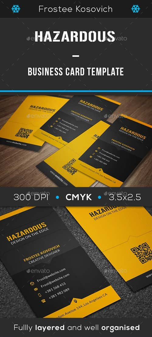 GraphicRiver Hazardous Business Card Template