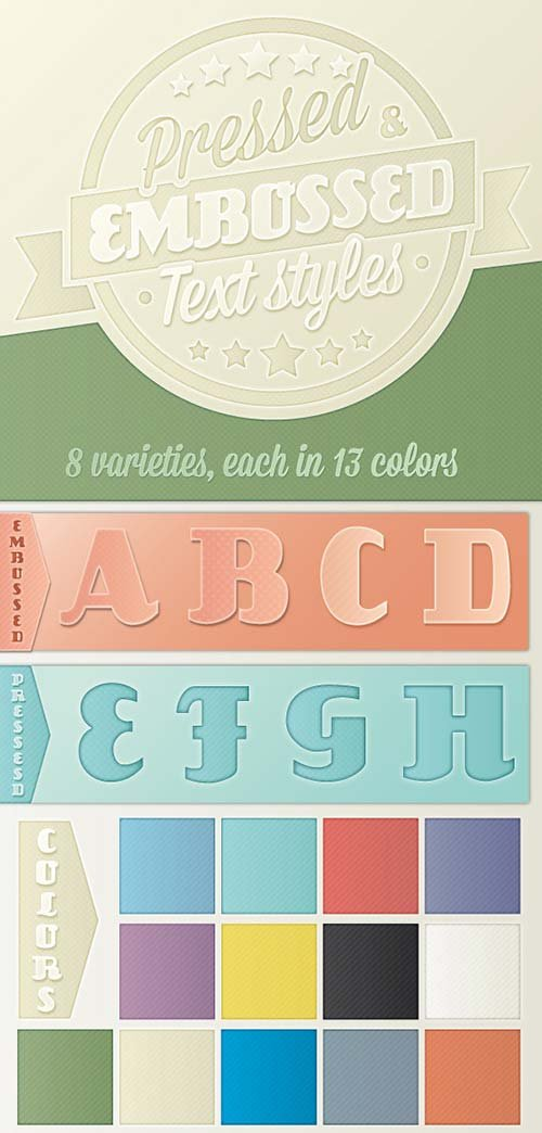 GraphicRiver Pressed and Embossed Text Styles