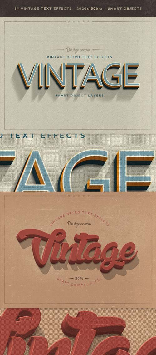 GraphicRiver New Vintage Retro Text Effects
