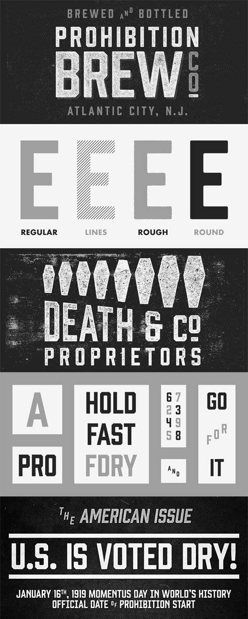 Prohibition Font Family