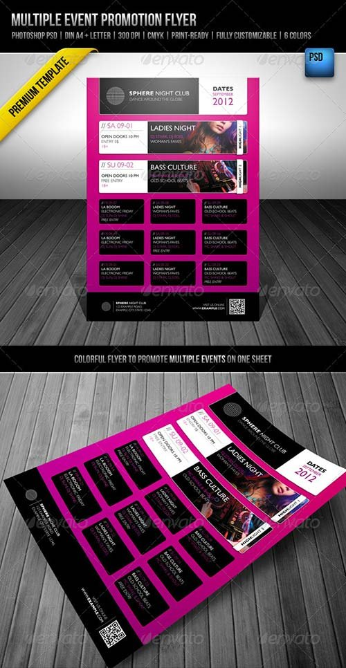 GraphicRiver Multiple Event Promotion Flyer