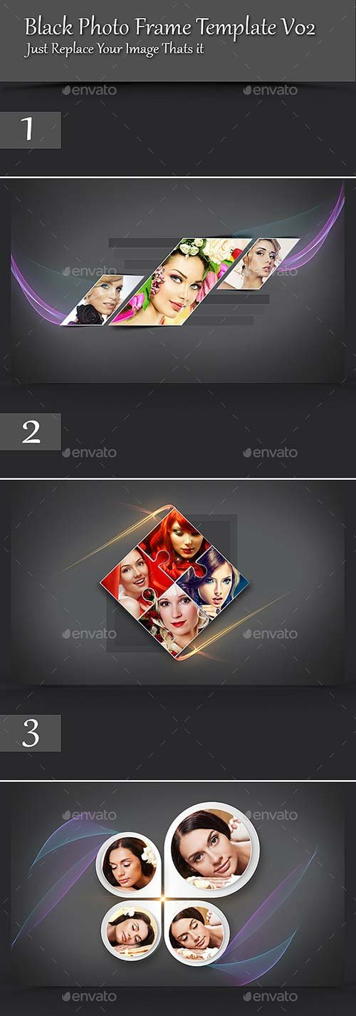GraphicRiver Black Photo Frame Template V02