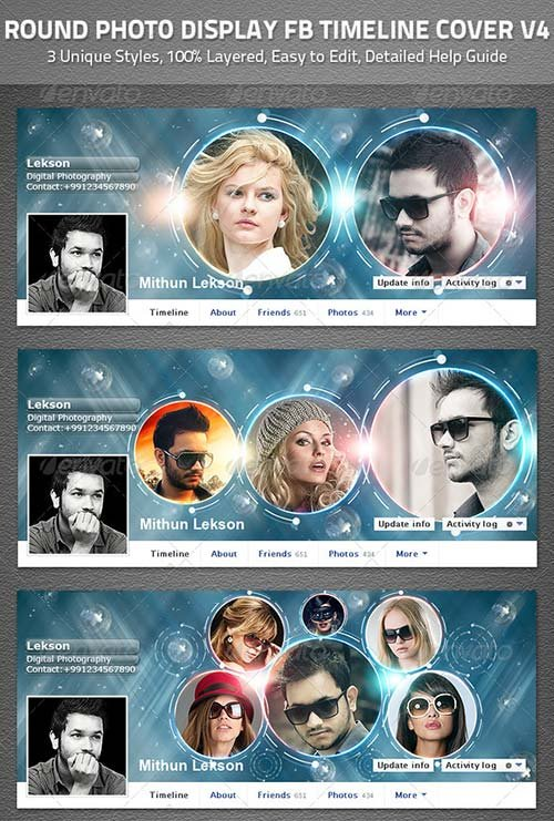 GraphicRiver Round Facebook Timeline Cover V4