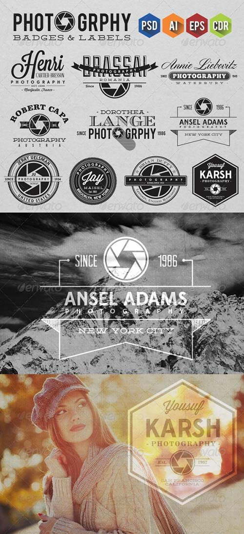 GraphicRiver Photography Badges & Labels