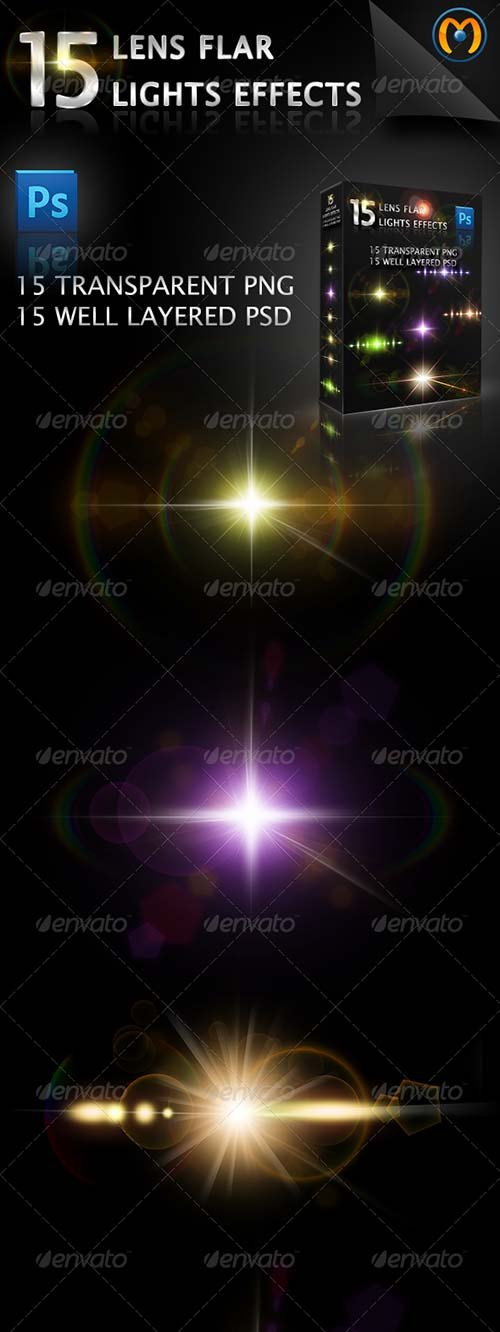 Throw Pillows Vs Lens Flare : Decorative Items - GraphicRiver 15 Lens Flares V.1 GraphicFlux