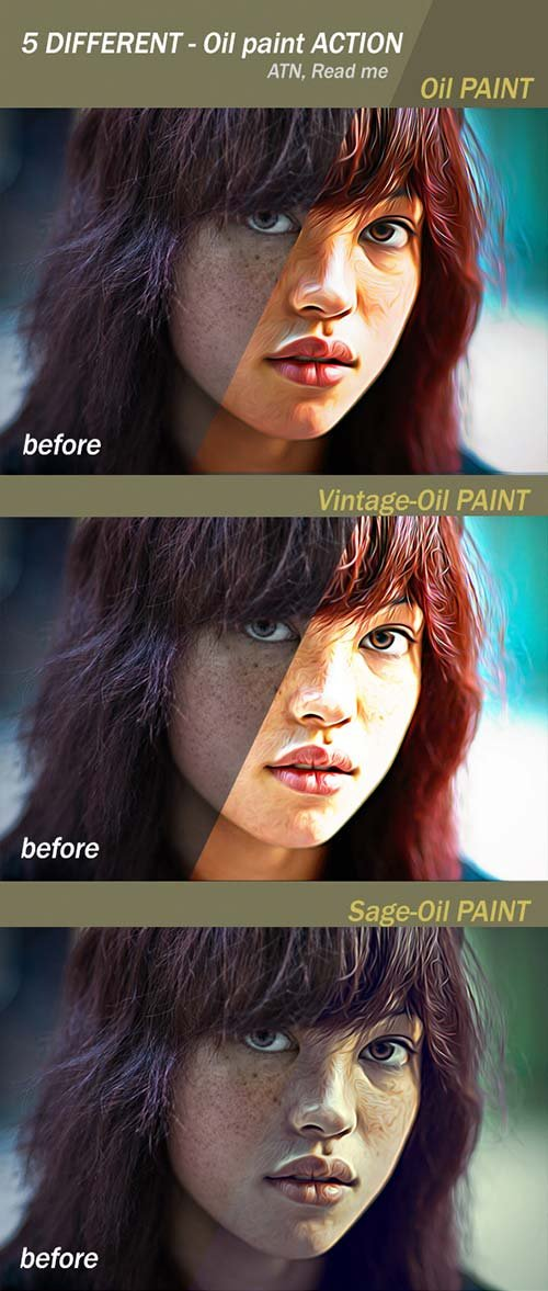 GraphicRiver Oil Paint Action