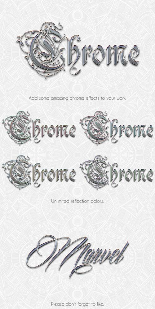 CreativeMarket Instant Chrome Effect