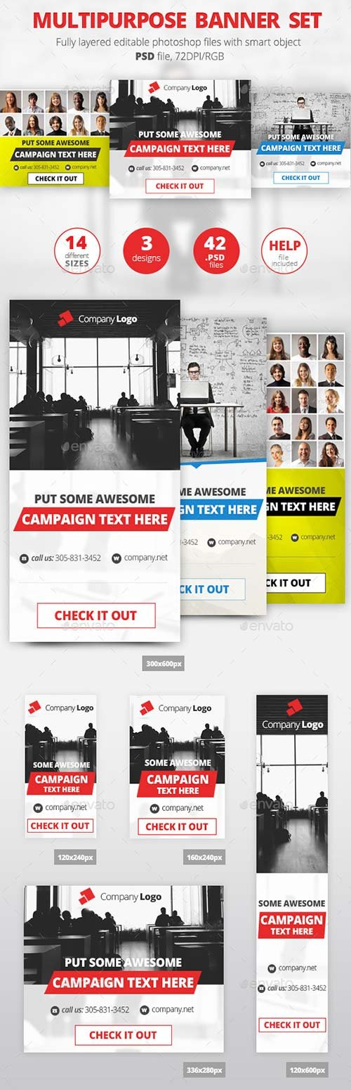 GraphicRiver MultiPurpose Banner Set