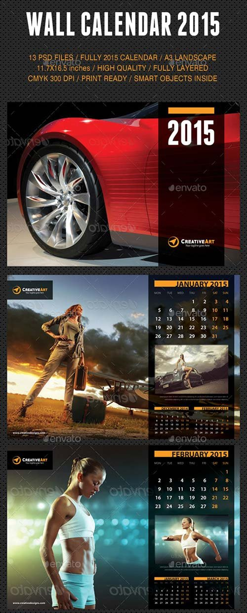 GraphicRiver Wall Calendar 2015 V08