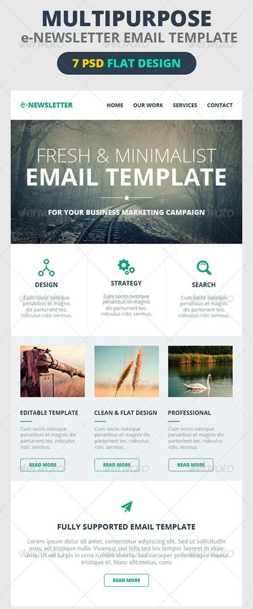 GraphicRiver Multipurpose E-Newsletter Email Template