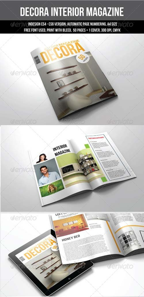 magazine templates graphicriver 50 pages a4 indesign magazine template graphicflux. Black Bedroom Furniture Sets. Home Design Ideas
