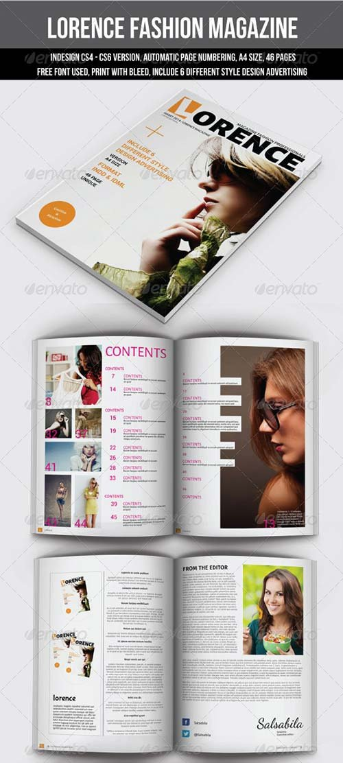 GraphicRiver Lorence Fashion Magazine