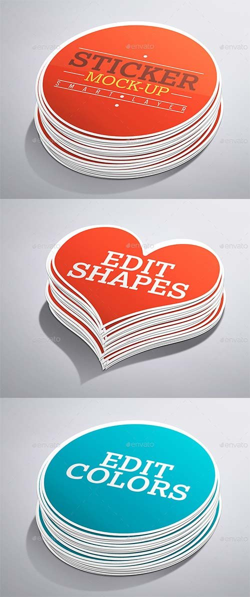 GraphicRiver Stickers Mock-Up