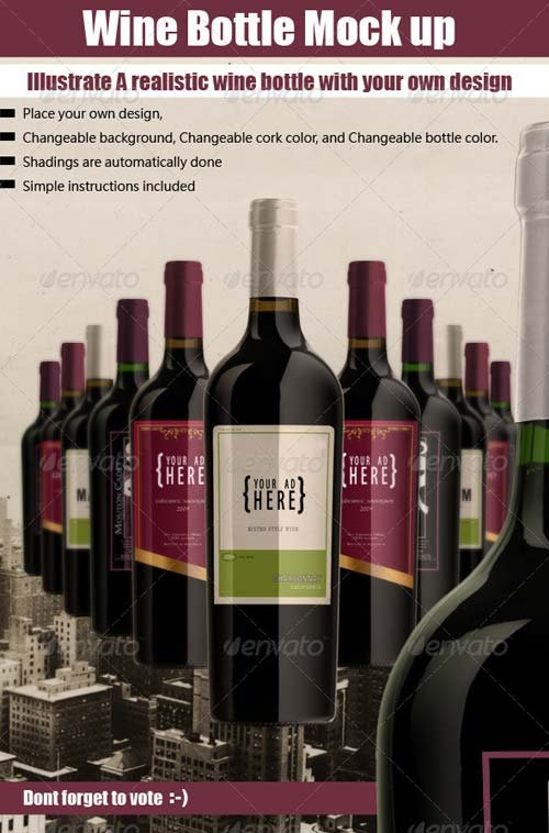 GraphicRiver luxury Bottle Mock Up