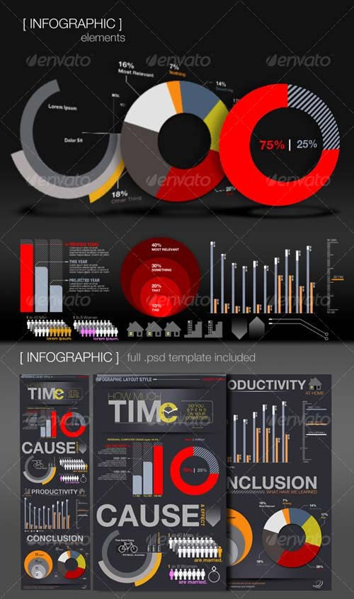 GraphicRiver Infographic Elements + Template