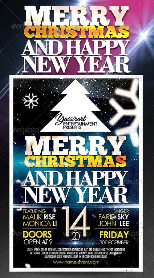 GraphicRiver Marry Christmas Party Flyer Template