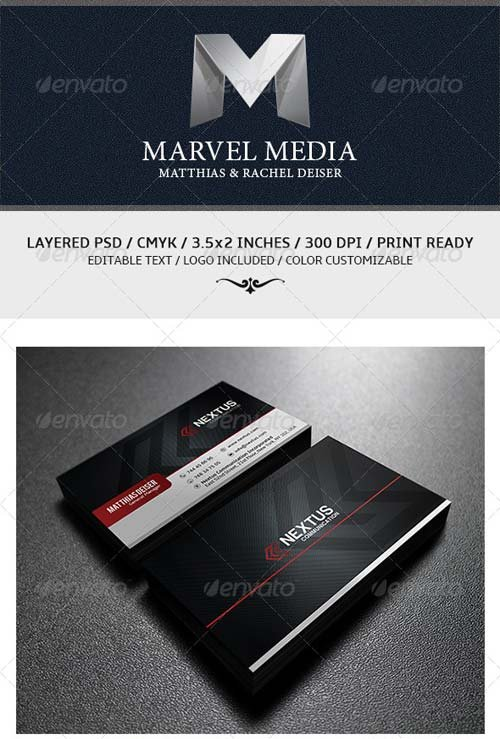 GraphicRiver Corporate Business Card Template 6131372