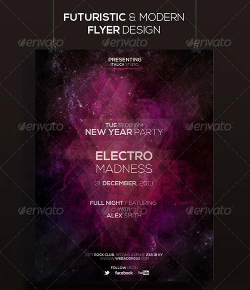 GraphicRiver Futuristic Flyer Design