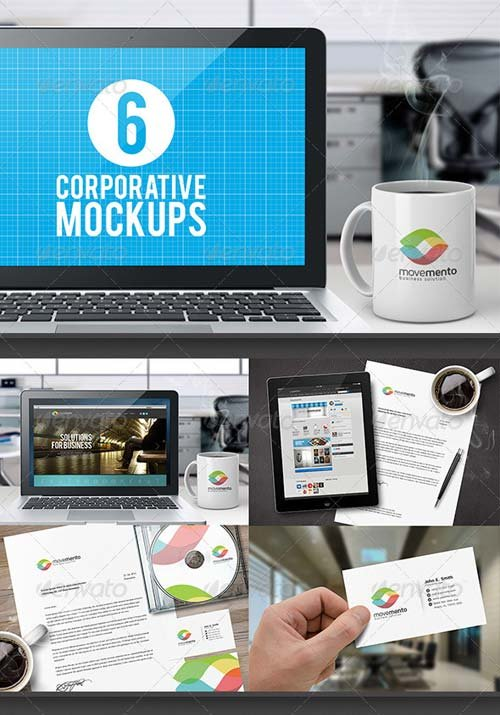 GraphicRiver Corporative Mockups Vol.01