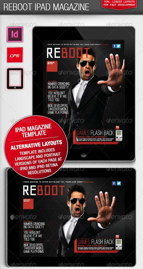 GraphicRiver Reboot iPad Magazine