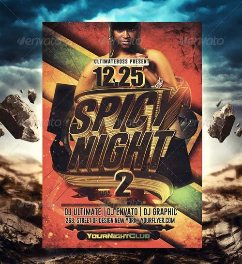 GraphicRiver Spice Night Flyer