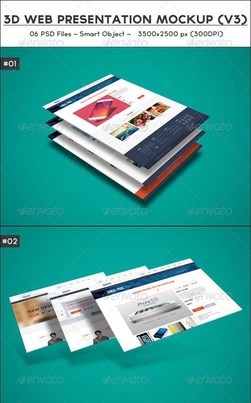 GraphicRiver 3D Web Presentation Mockup (V3)