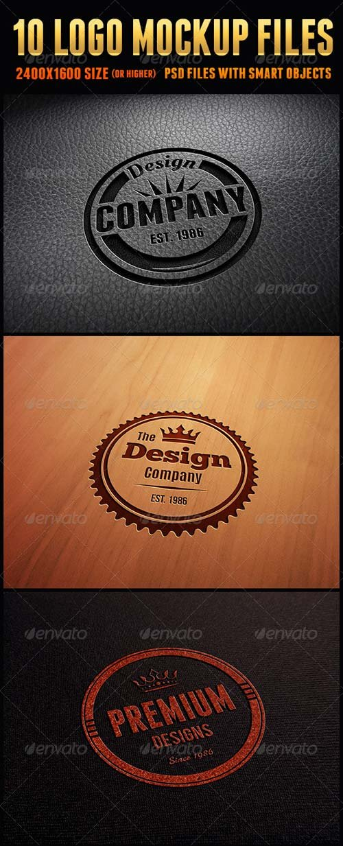 GraphicRiver 10 Logo Mockup Files