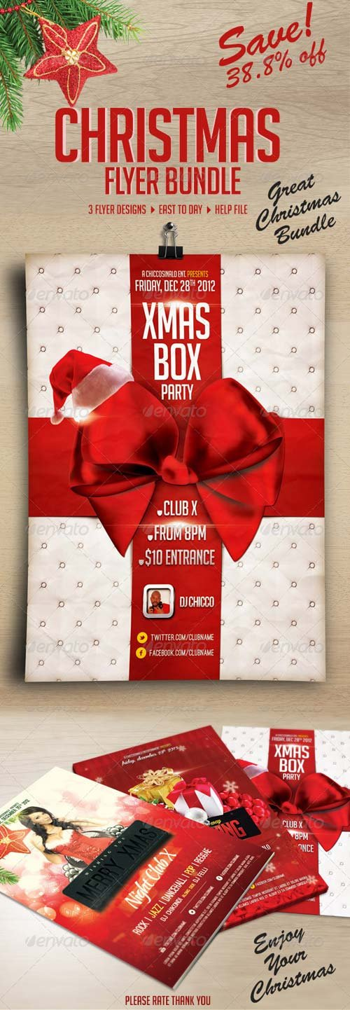 GraphicRiver Christmas Flyer Bundle