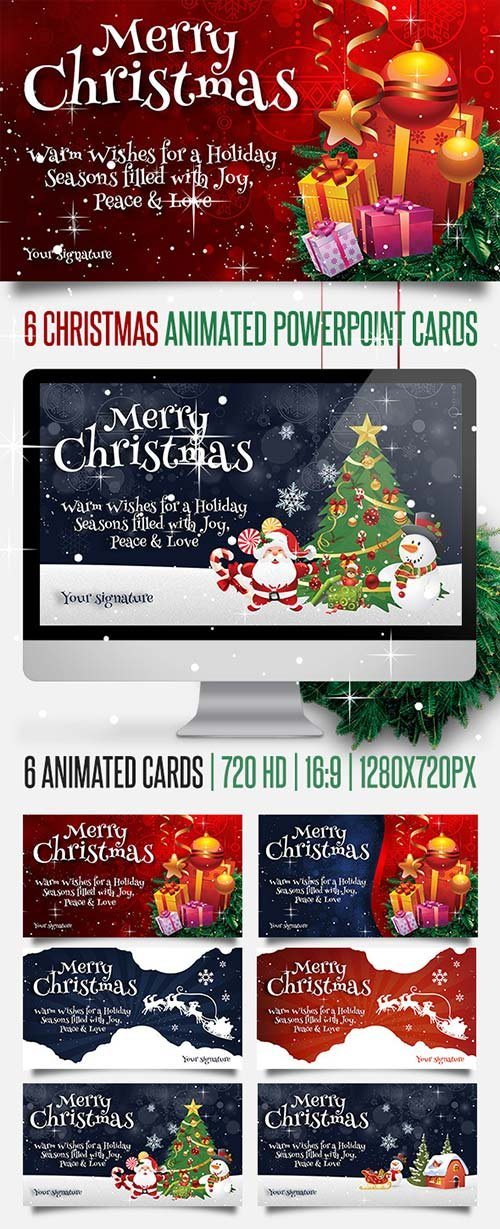 GraphicRiver 6 Christmas Powerpoint Animated Cards