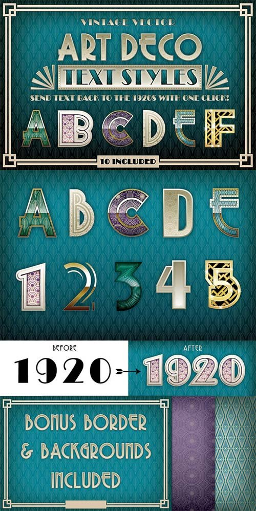 CreativeMarket Art Deco Styles + Bonus Items