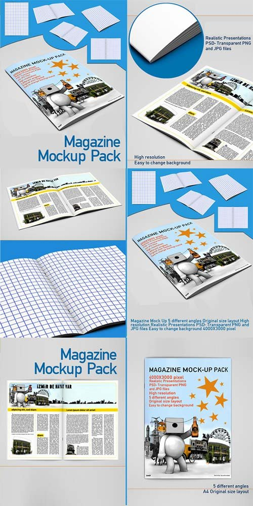 CreativeMarket magazine Mock Up