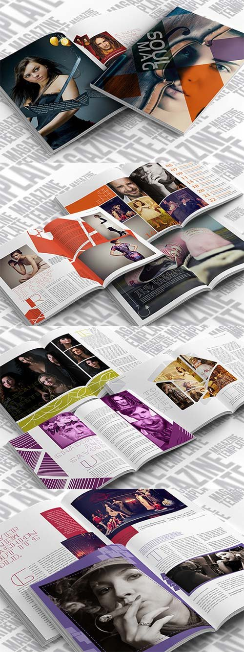 CreativeMarket Indesign Lifestyle Magazine