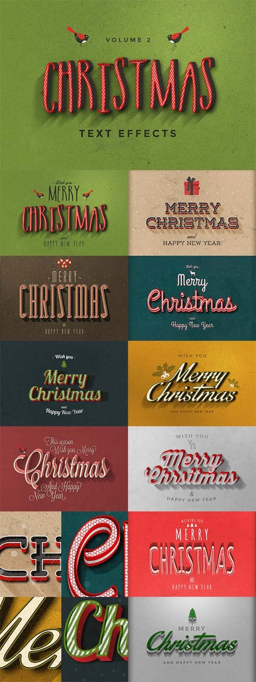 CreativeMarket Christmas Text Effects Vol.2