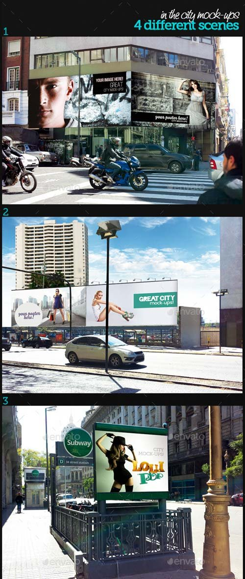 GraphicRiver In The City Mock-Ups Template Pack