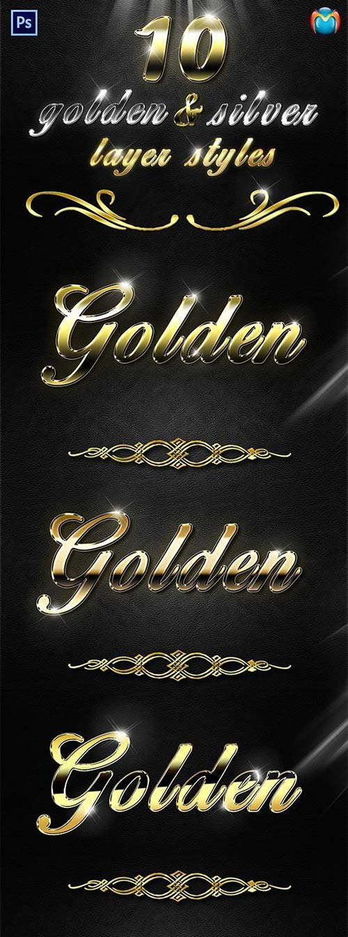 GraphicRiver Golden & Silver Layer Styles V.2