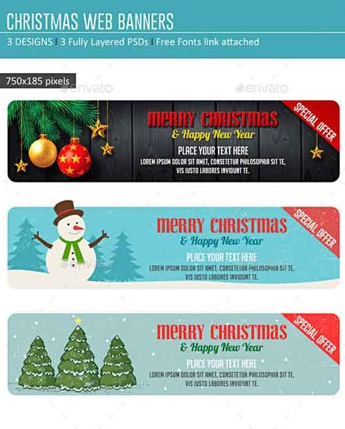GraphicRiver Christmas Web Banners