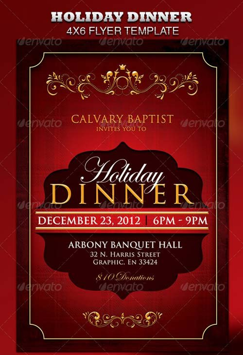 Flyer Templates - Graphicriver Valentine Dinner, Party And Event